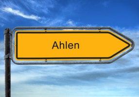 Ortsschild Ahlen