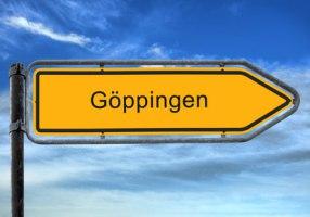 Straßenschild der Stadt Göppingen