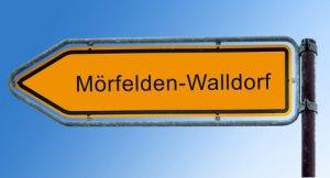 Straßenschild Mörfelden-Walldorf