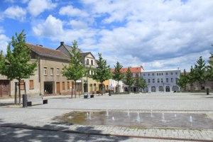 Am Marktplatz in Strausberg