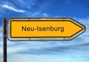 Straßenschild Neu-Isenburg