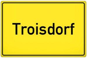 Ortsschild Troisdorf
