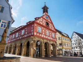 Marktplatz und Rathaus in Waiblingen