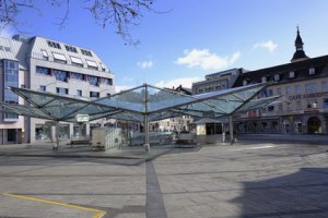 Roßmarkt mit Busbahnhof in Schweinfurt