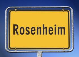 Ortsschild Rosenheim