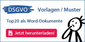 DSGVO Vorlagen / Muster – Ihr Datenschutzkonzept von A bis Z zum Download